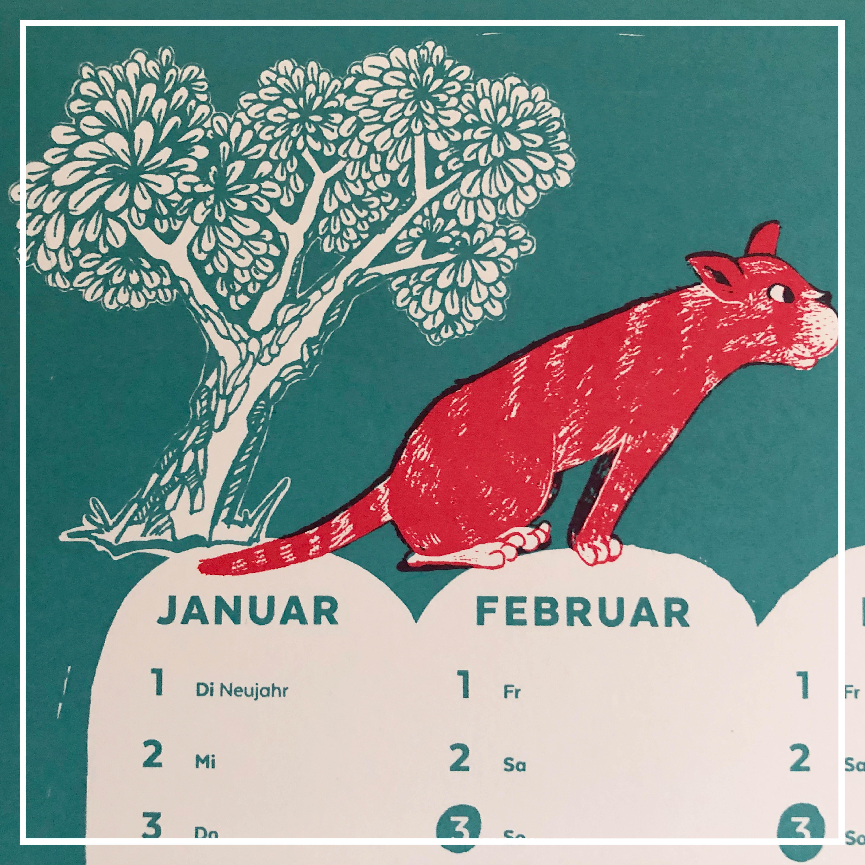 Siebdruck: Kalenderposter für 2019