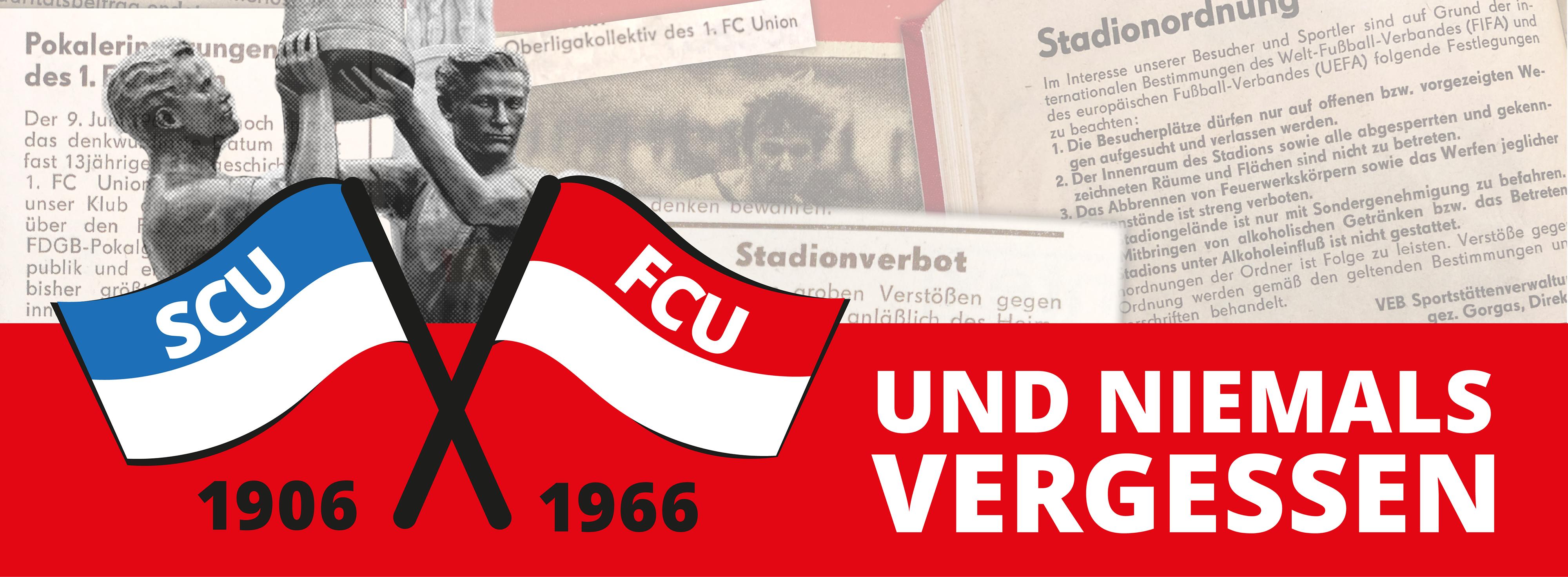 Banner: Und niemals vergessen - Der Geschichtspodcast über den 1. FC Union Berlin