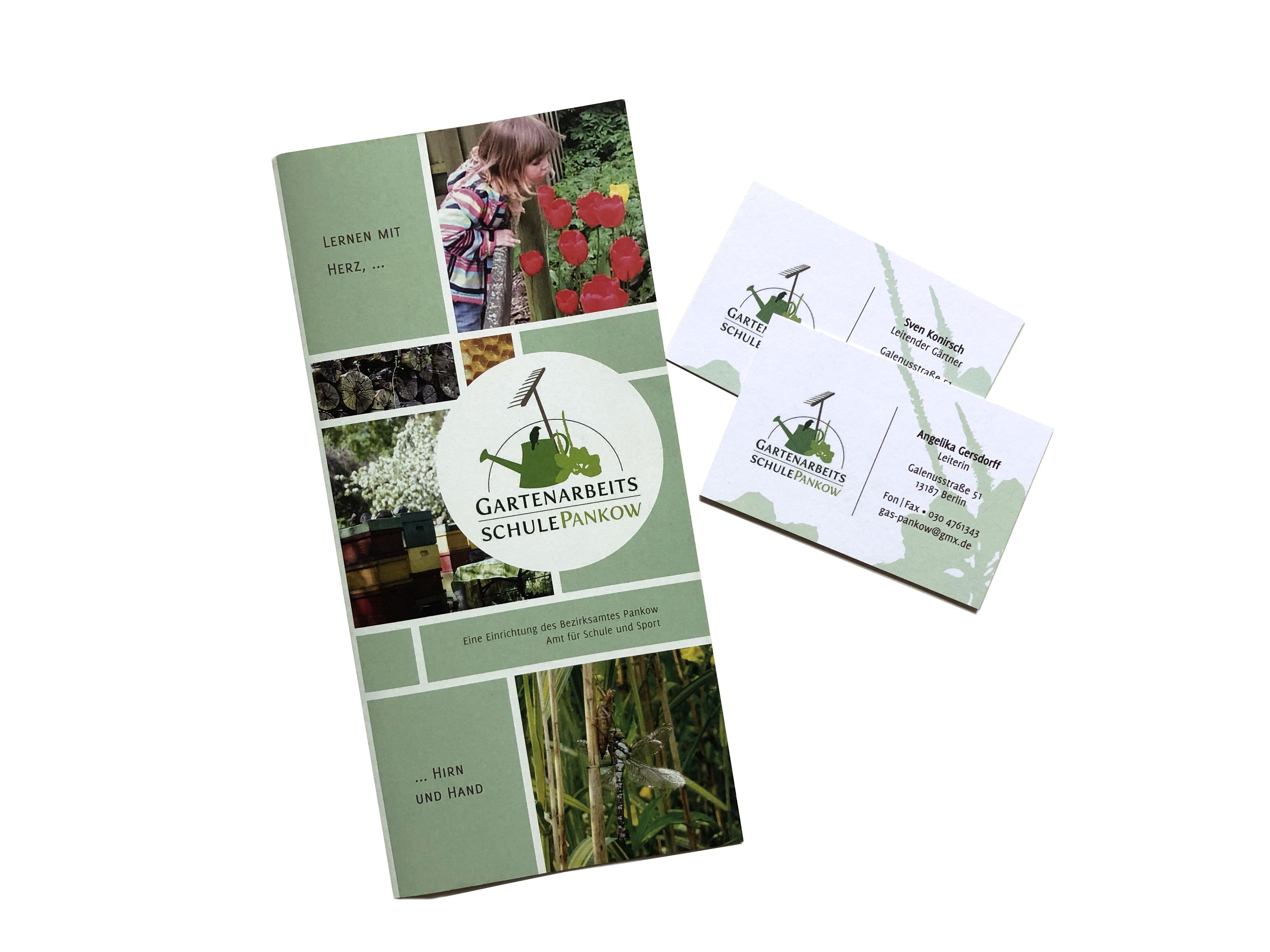 Gartenarbeitsschule Pankow: Flyer & Visitenkarten